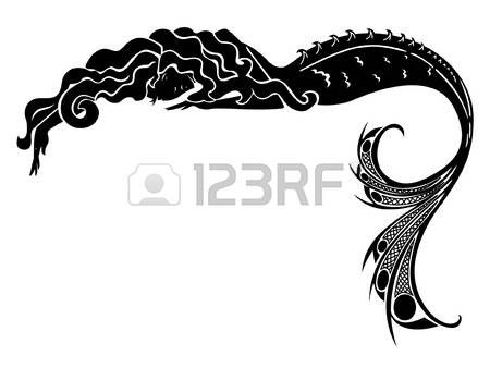 450x338 Mermaid Vector Silhouette Illustration Mermaid Tub