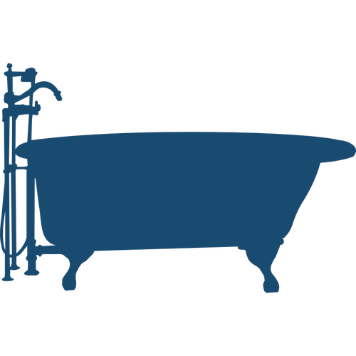 500x500 Bath Tub Silhouette Vector Image Public Domain Vectors