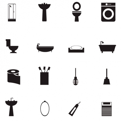 400x400 Bathroom Icons Clipart Best, Bathroom Clip Art Silhouette
