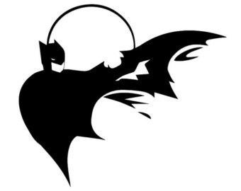 340x270 Svg Batman Instant Download, Batman Silhouette File, Batman Svg