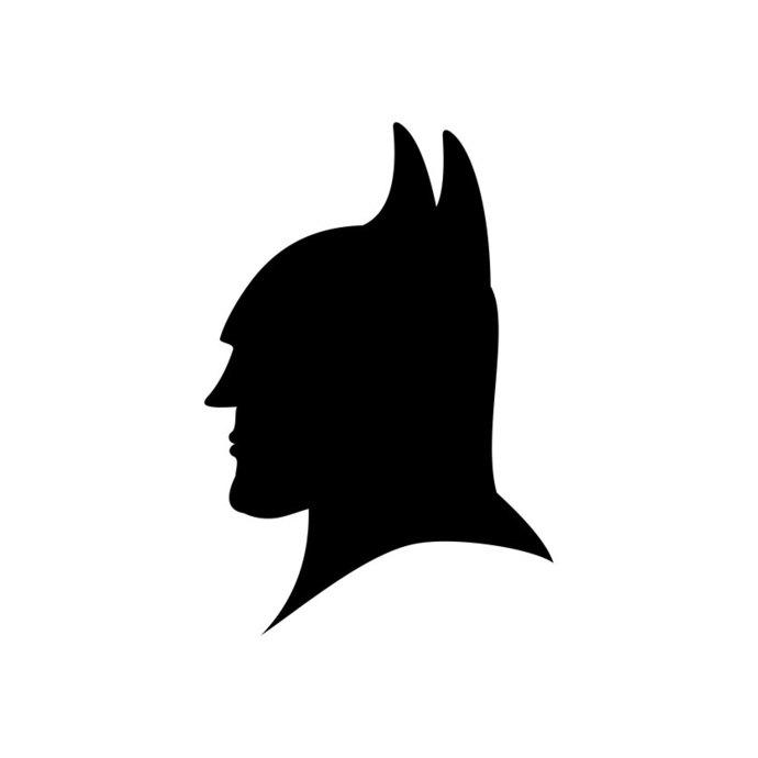 690x690 Batman Head Silhouette Superhero Graphics By Vectordesign On Zibbet