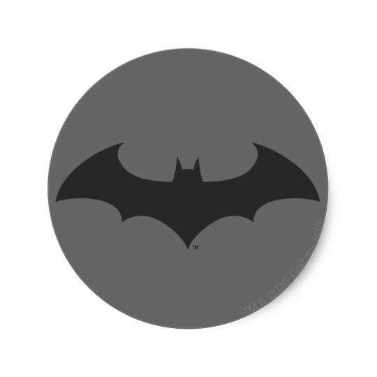 540x540 Batman Symbol Simple Bat Silhouette Logo Classic Round Sticker
