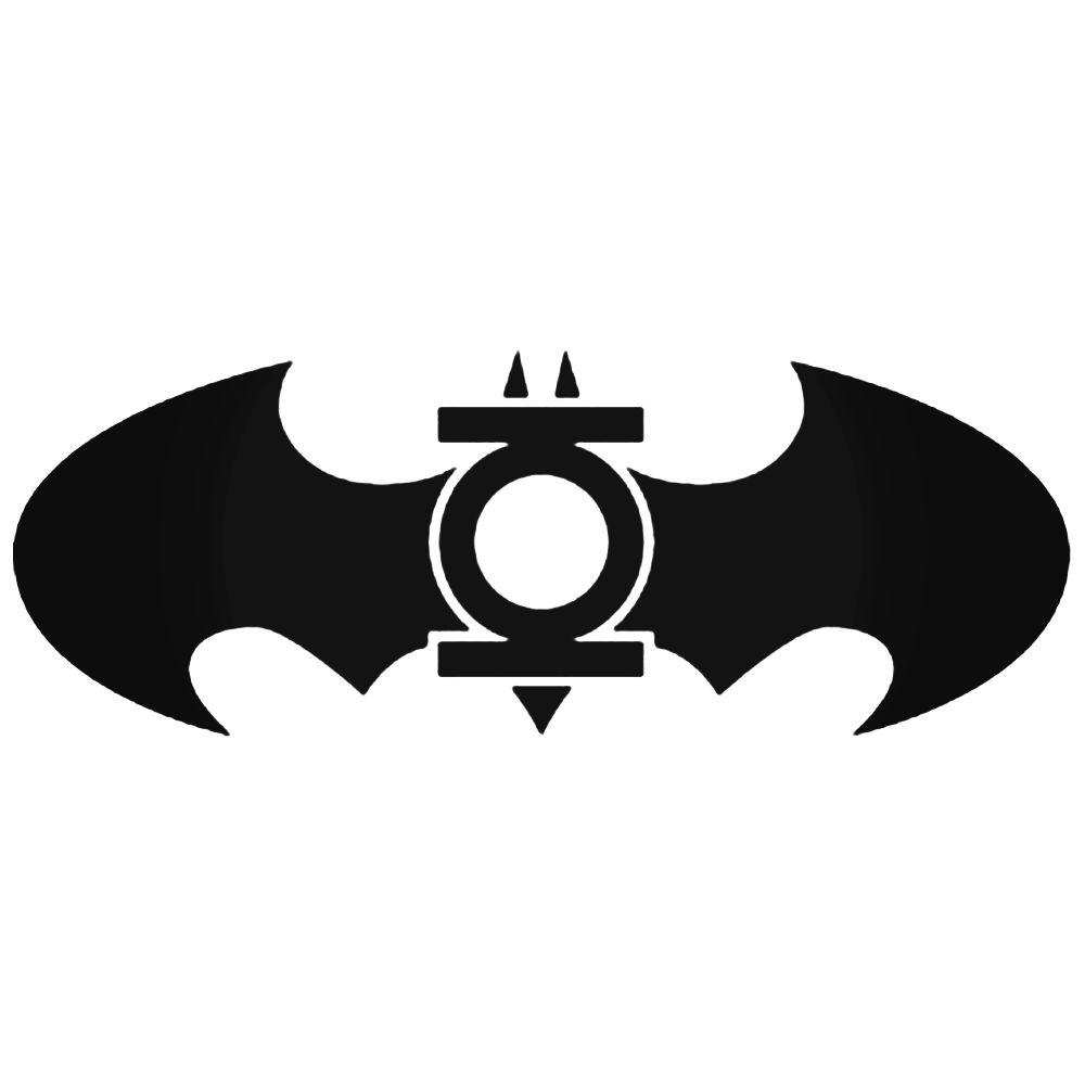 1000x1000 Green Lantern Batman Logo Silhouette Decal