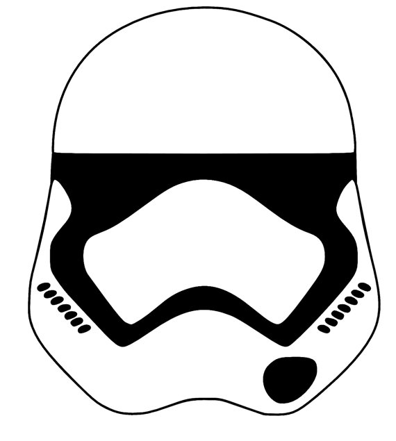 570x635 Mask Clipart Stormtrooper