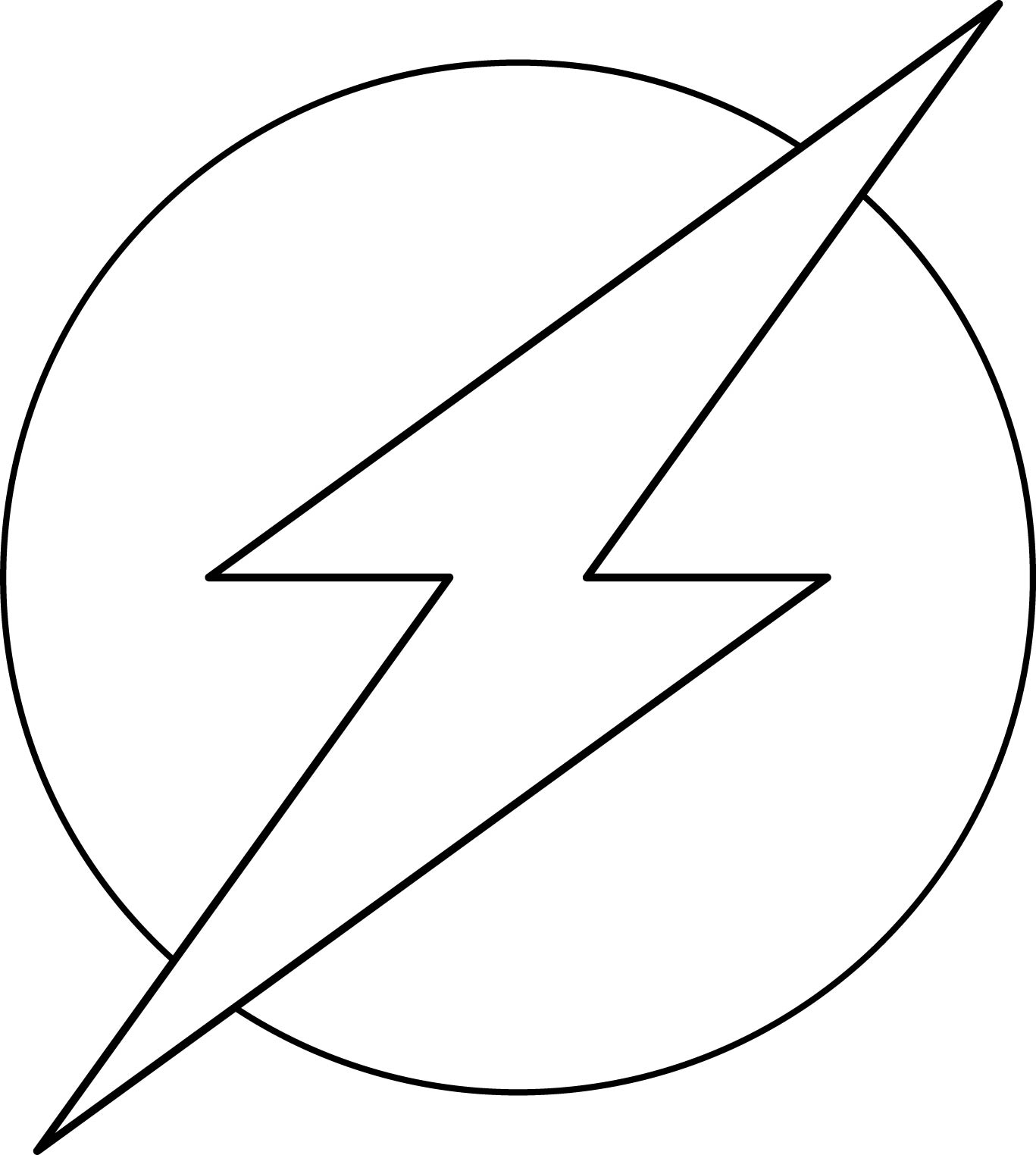 1367x1524 The Flash Superhero Logo. Add Another Outer Circle And You'Re Good