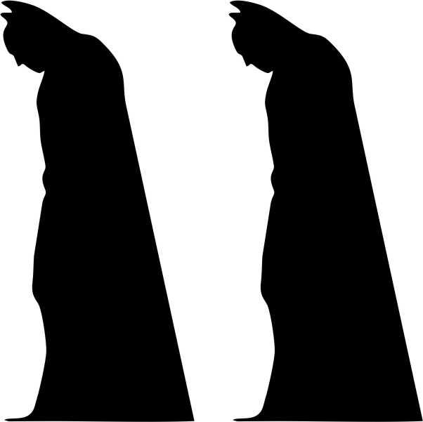 602x601 Batman Silhouette X 2