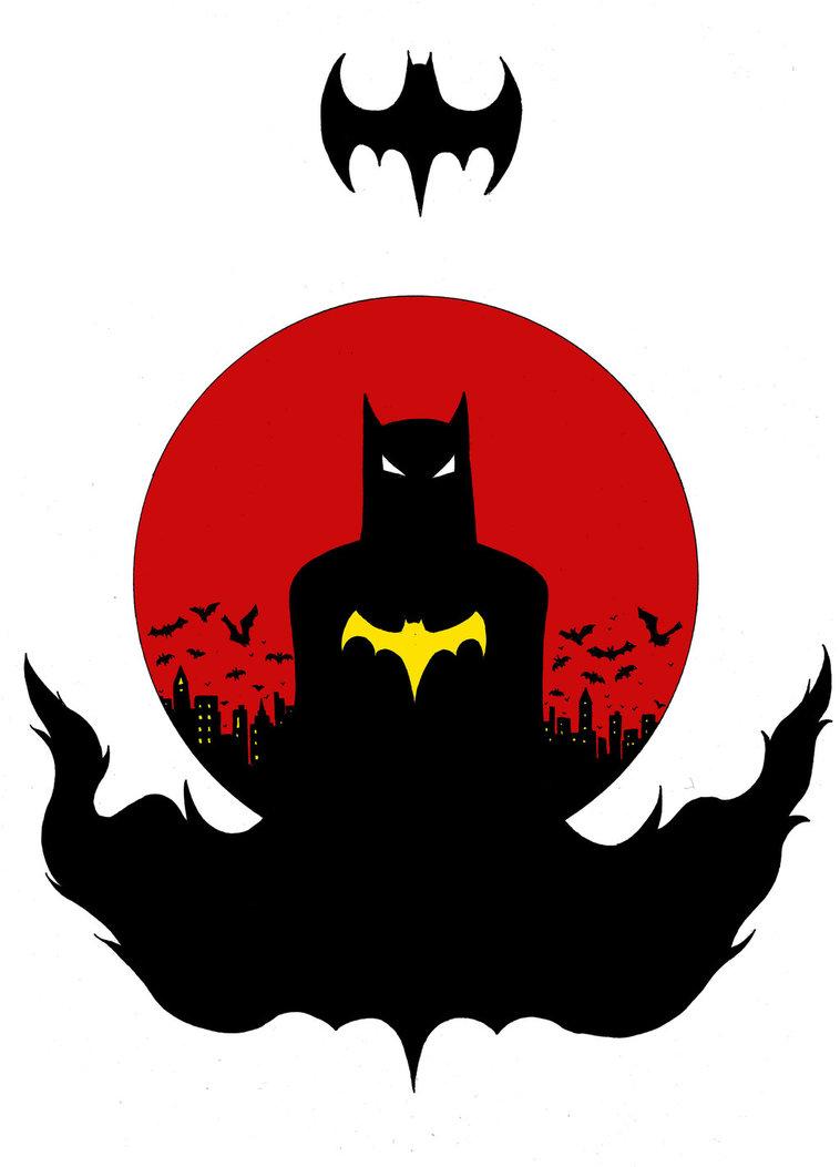 758x1053 Batman Silhouette By Doodlemagic