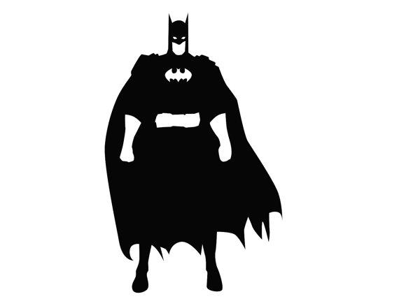 570x428 Items Similar To Batman Silhouette Paper Ephemera Stencil Cut Out