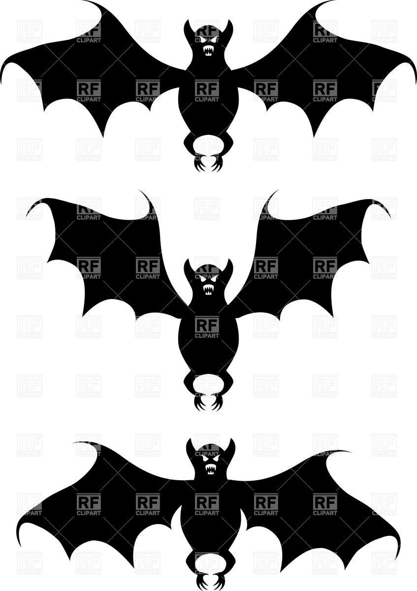 847x1200 Flying Bat Silhouette Royalty Free Vector Clip Art Image