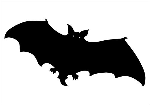 501x351 Black Bat Vector Silhouette For Download Gtgt Silhouette Graphics
