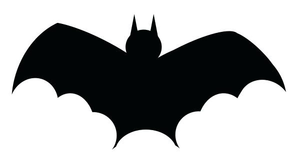 590x315 Hanging Bat Silhouette Funny Flying Bat Stencil Hanging Bat