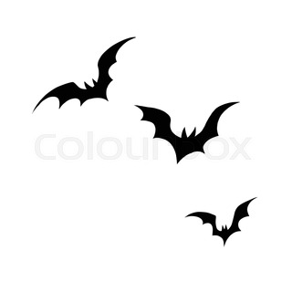 320x320 Bat Flying Animal Silhouette. Good Use For Symbol, Logo, Web Icon