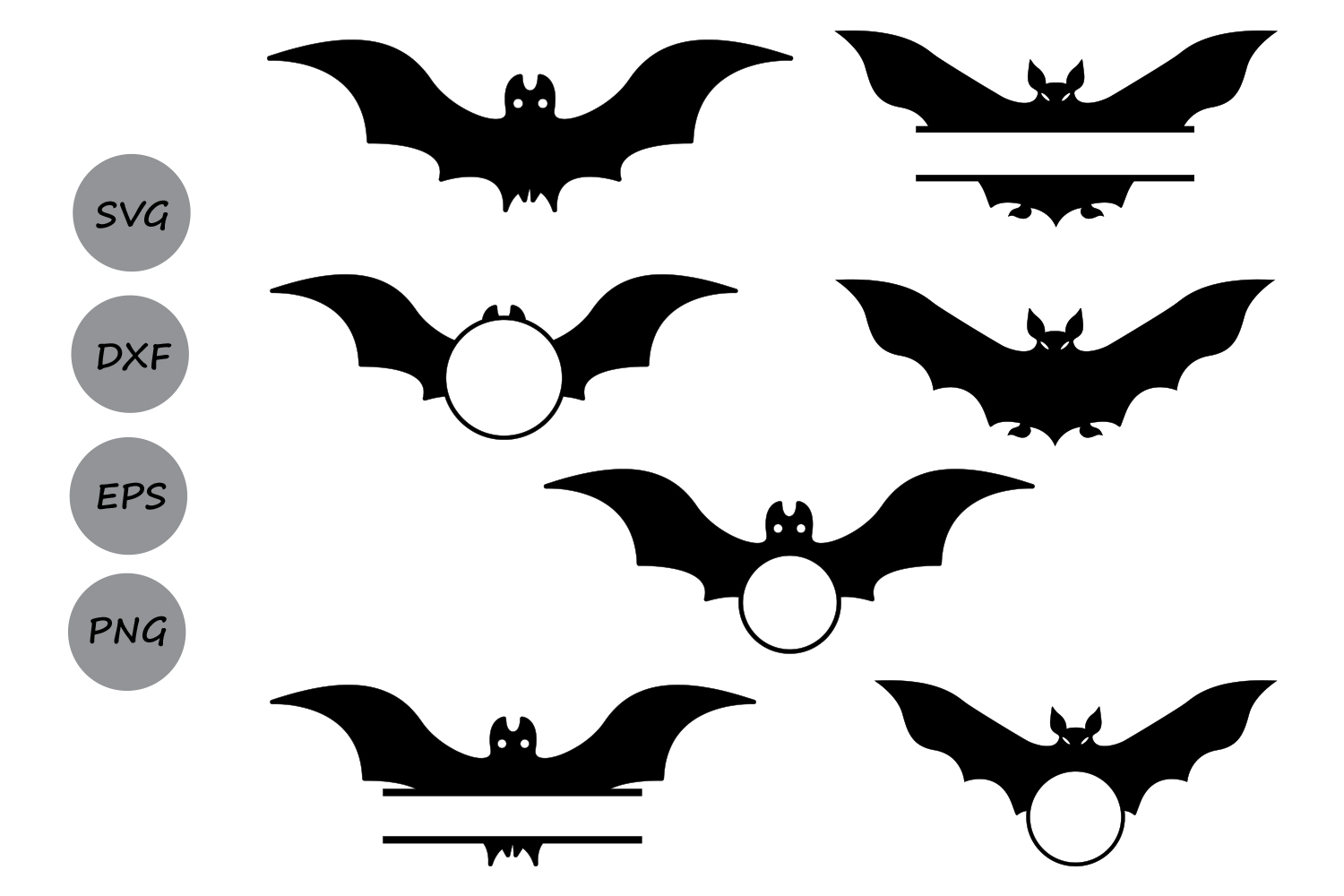 1500x1000 Halloween Bats Svg Cut Files, Halloween Design Bundles