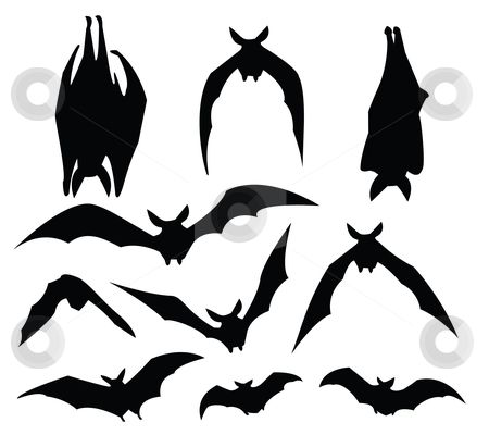 450x400 Pin By Michelle Gale On Halloween !!! Bat Silhouette