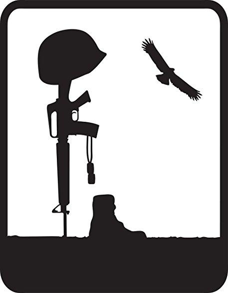 Battlefield Cross Silhouette