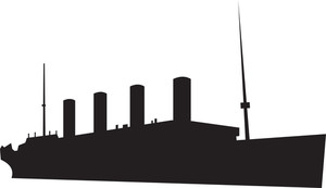 300x173 Navy Ship Silhouette Royalty Free Stock Image