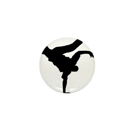 460x460 Bboy Silhouette Blk Mini Button By Styleuniversal
