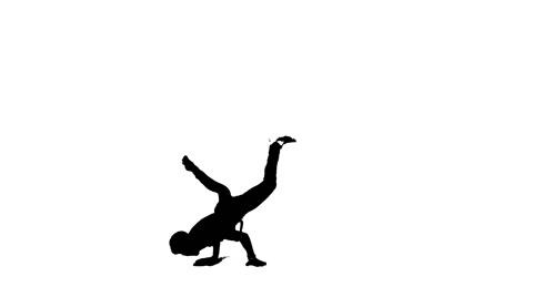 480x268 Black Amp White Silhouette Break Dancer Bboy ~ Video