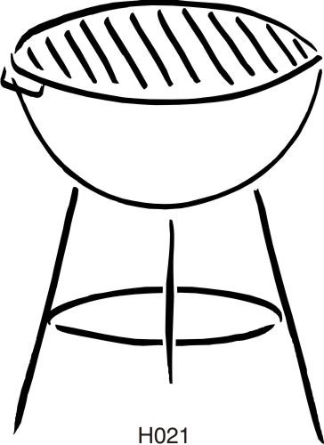 Bbq Grill Silhouette