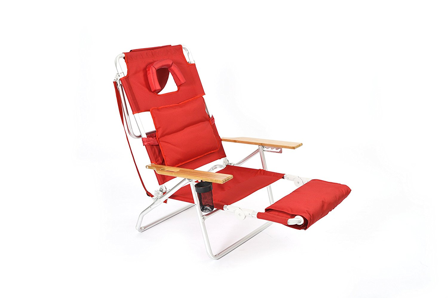 1500x997 Ostrich Deluxe Padded Sport 3 In 1 Beach Chair, Red
