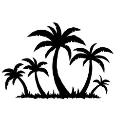 236x236 Palm Trees Silhouette Png Clip Art Image Silhouette Cameo Tips
