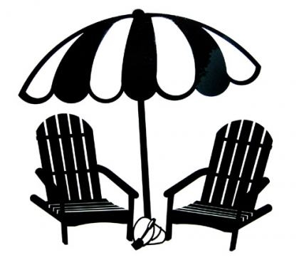420x365 Back Of Beach Chair Silhouette Penaime