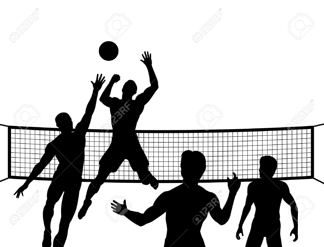 1300x994 Volleyball Player Clipart