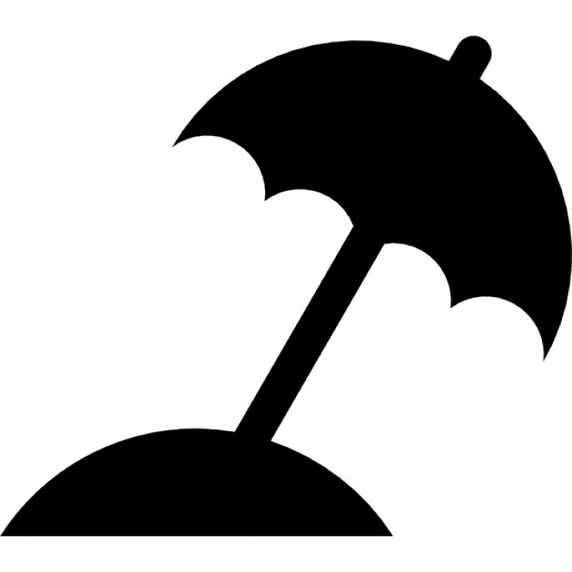 626x626 Beach Umbrella Black Silhouette Icons Free Download