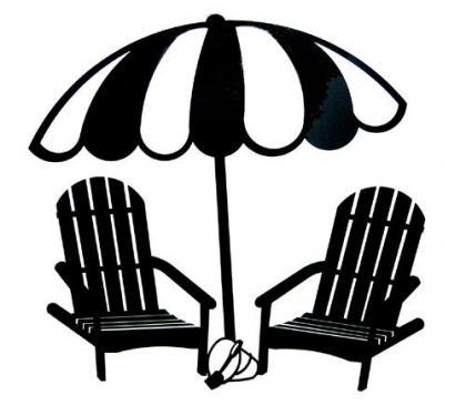 420x365 Beach Chair Silhouette Penaime