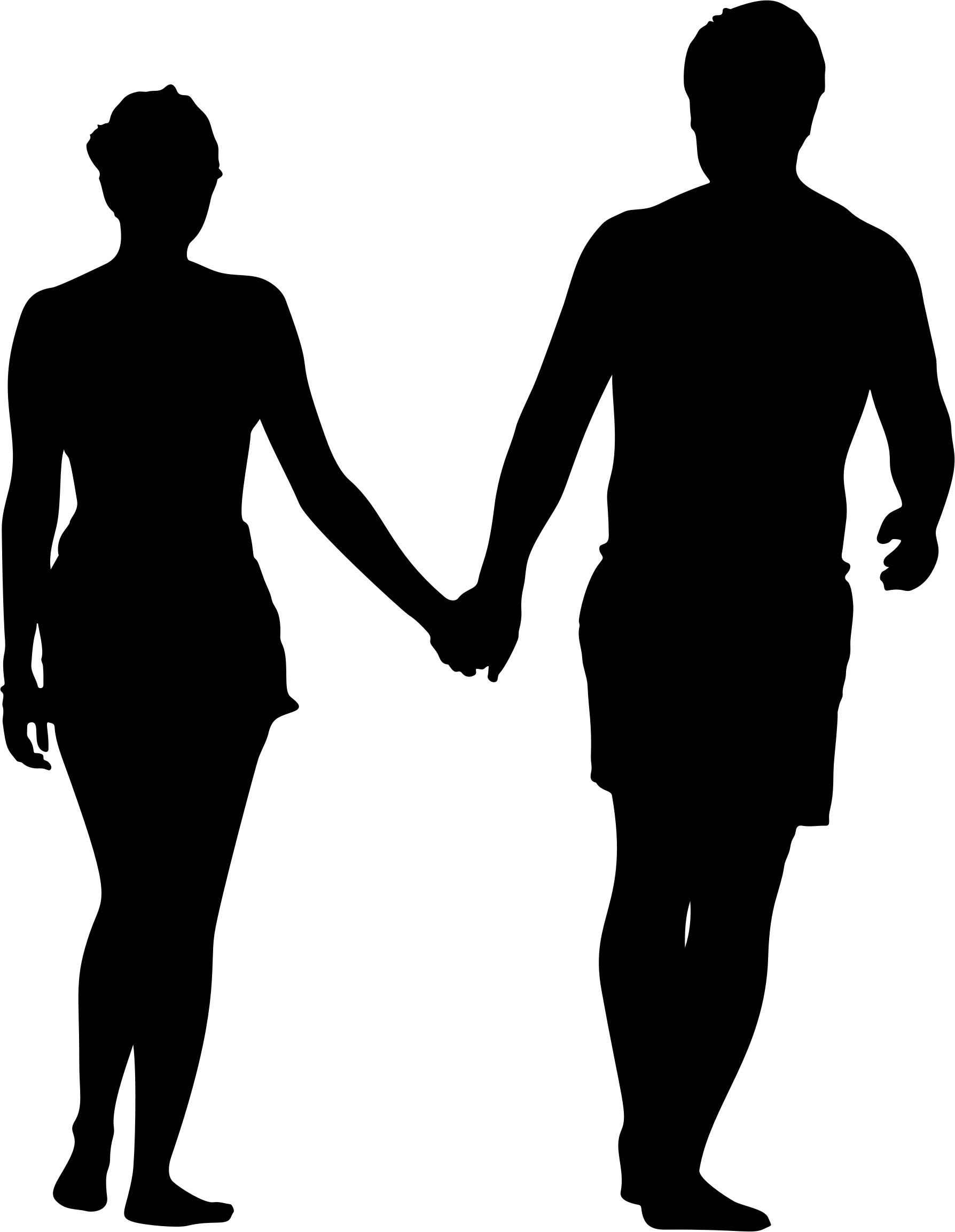 1788x2306 Beach Couple Silhouette Icons Png