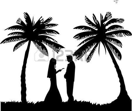 Beach Silhouette Vector