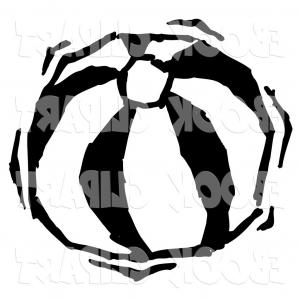 300x300 Isolated Silhouette Beach Ball Vector Illustration Createmepink