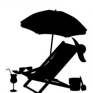 300x300 Silhouette Of Beach Chairs And Umbrellas Vector Createmepink