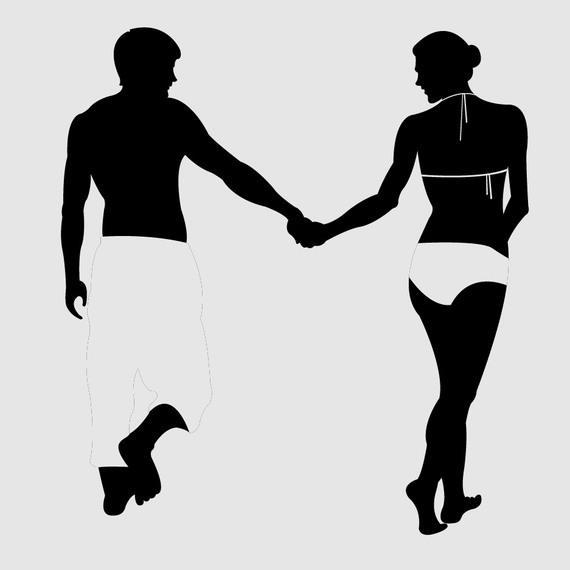 570x570 Beach Couple Silhouette