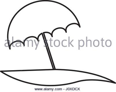 401x320 Beach Umbrella Icon Vector Illustration Stock Vector Art