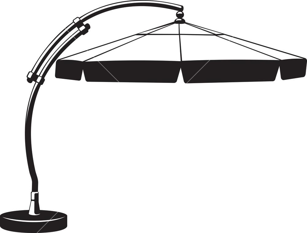 1000x759 Beach Umbrella Silhouette Royalty Free Stock Image