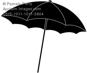 300x253 Art Image Of A Beach Umbrella Silhouette