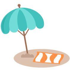 236x236 Beach Umbrellas Silhouettes
