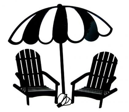 Beach Umbrella Silhouette at GetDrawings | Free download