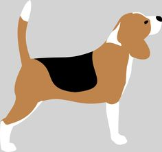 236x222 A Cartoon Black Silhouette Of A Beagle With A Leash In Its Mouth