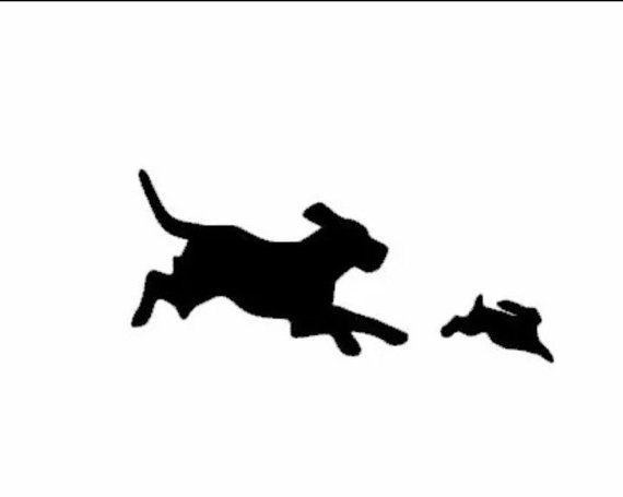 570x455 Beagle Hunting Rabbit Decal Hunting Decal Hunting Sticker