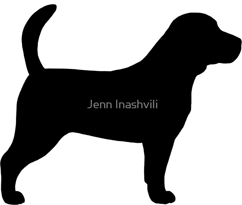 800x680 Beagle Silhouette(S) Stickers By Jenn Inashvili Redbubble