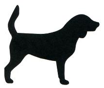 214x182 Beagle Silhouette Laser Die Cut