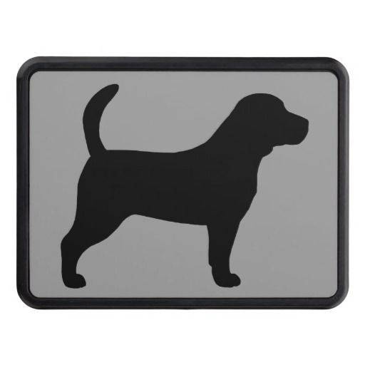 512x512 Beagle Silhouette Trailer Hitch Cover Dogs Beagle