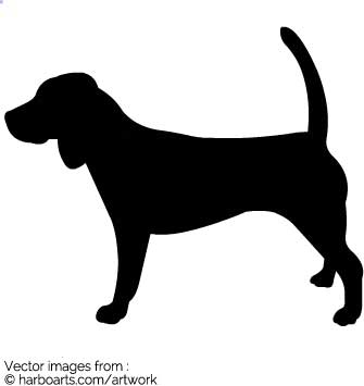 335x355 Download Beagle Silhouette