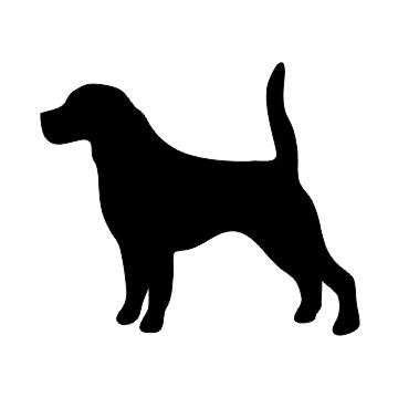 360x360 Beagle Dog Silhouette Custom Die Cut Vinyl Decal Sticker