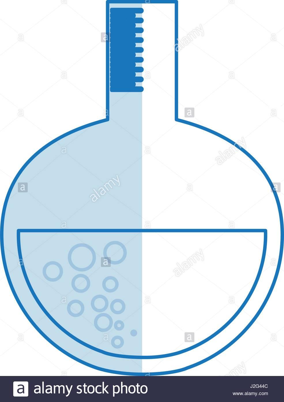 985x1390 Blue Silhouette Shading Glass Circular Beaker For Laboratory Stock