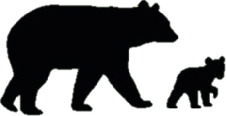 466x241 Black Bear Cub Silhouette