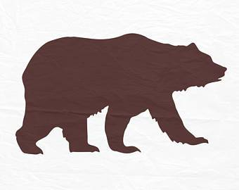 340x270 Black Bear Cub Silhouette