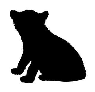 320x308 Lion Cub Silhouette Decal Sticker